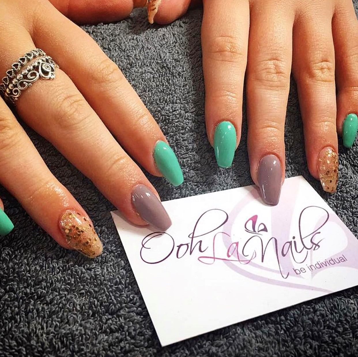 colour combo nails