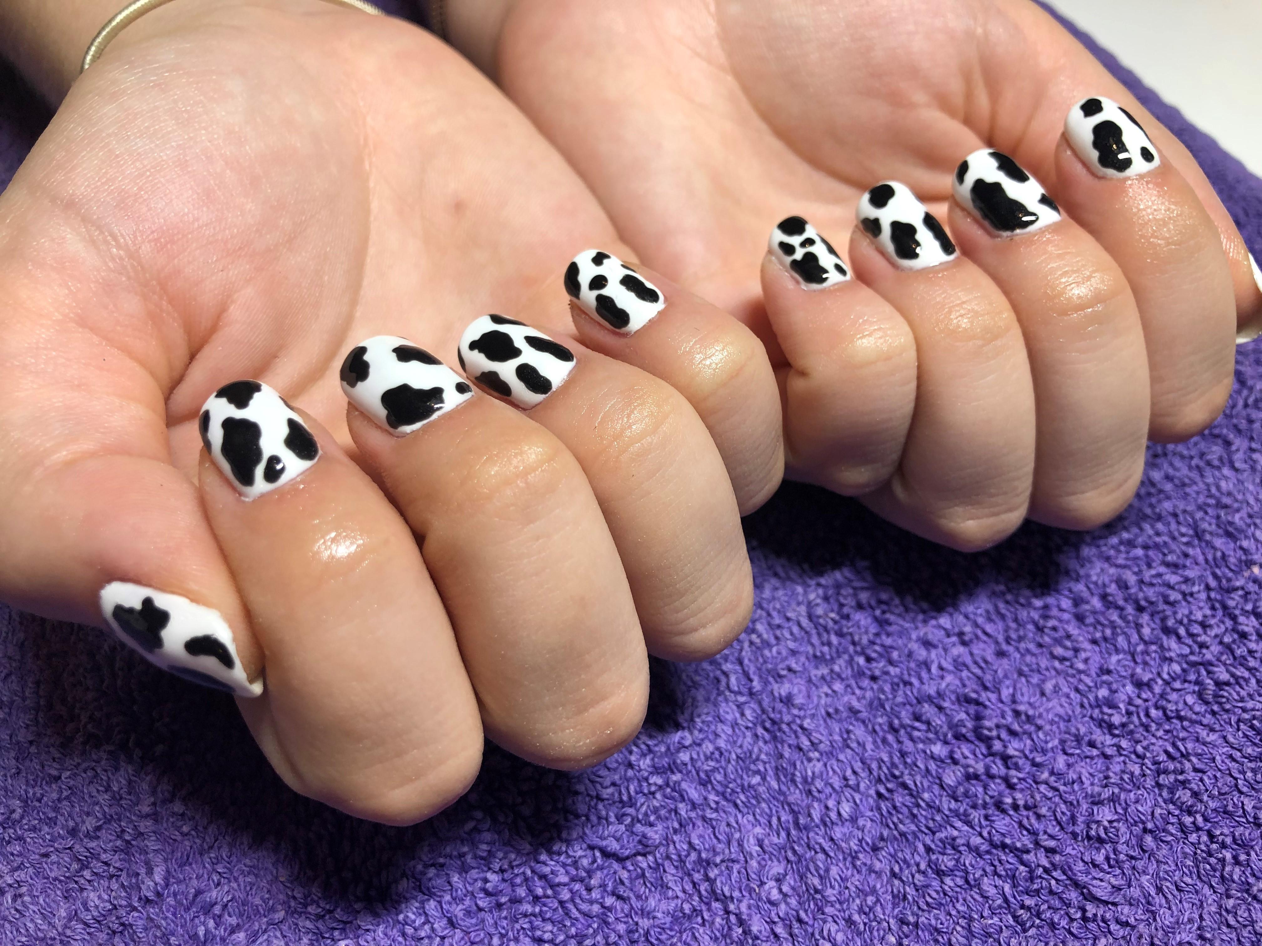 cow print gel polish