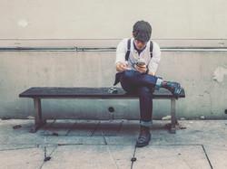 Hipster Man Smoking