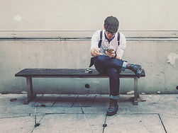 Hipster Man Smoking