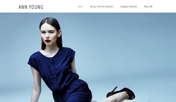 Portfolio website templates – Fashion Portfolio