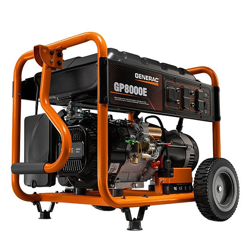 8KW Portable Generator with Electric Start and Manual Transfer Switch