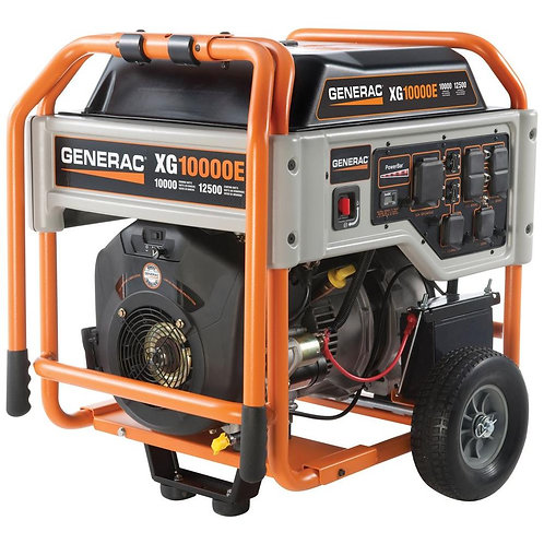 10KW Portable Generac Generator with Electric Start and Manual Transfer Switch