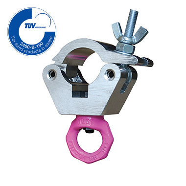 Hanging clamp with pink eye