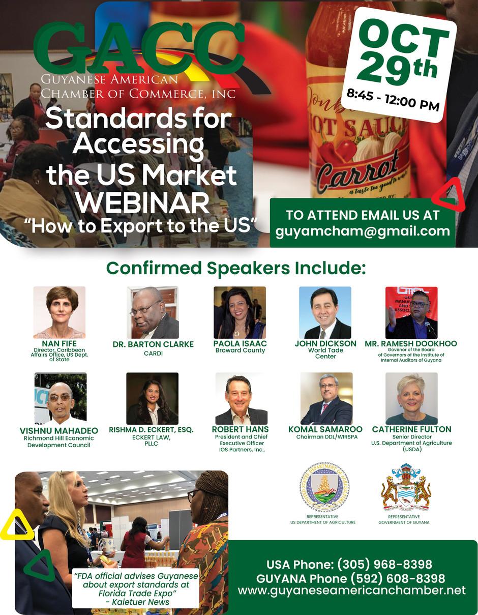Standards for Accessing the US Market Webinar Flyer