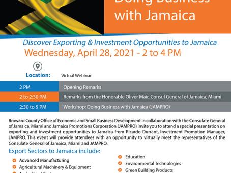 DOING BUSINESS WITH JAMAICA WEBINAR