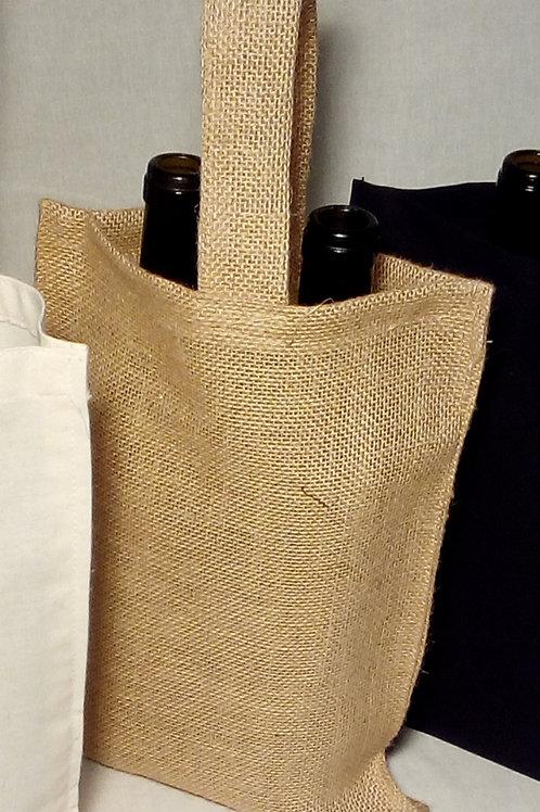 Pack 10 - Bolsa Vino 2 Botellas Yute 75cl