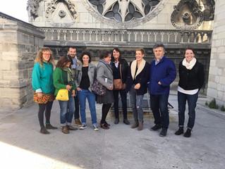 """Les artistes du projet """"A nous la basilique !"""" ont pu visiter le monument jusqu'au clo"""