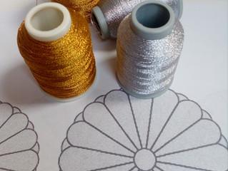 Atelier couture & Broderie // confection d'une veste de Kimono et broderie de sa ceinture //
