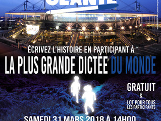 Samedi 31 mars, dictée géante au stade de France ! Inscription jusqu'au 15 mars
