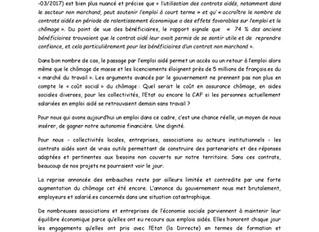 Pétition maintien des Emplois Aidés, à retrouver sur http://petitioncontratsaides.wesign.it/fr