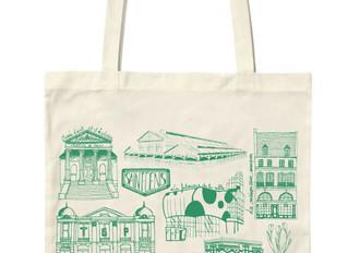"""Les nouveaux sacs """"La vie dionysienne"""" vous attendent à la boutique ! Deux couleurs : cora"""