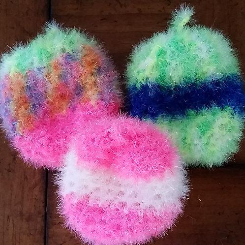 Multi-Use Non-scratch Scrubber Dish Sponge (Hand crocheted)