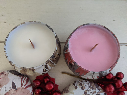 Organic Soy Coco Wooden Wick Candles