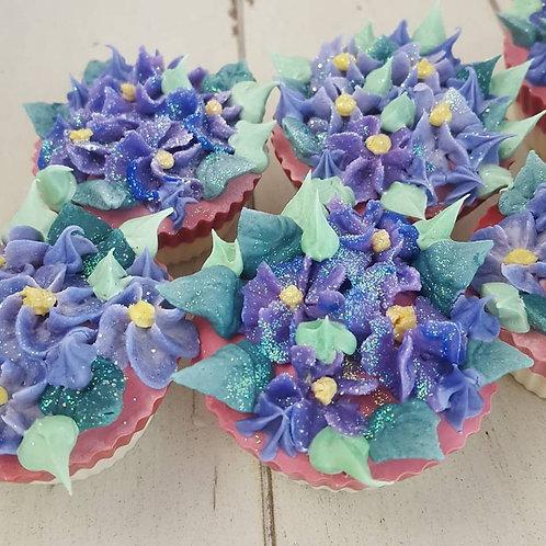 African Violet Cupcake Soap
