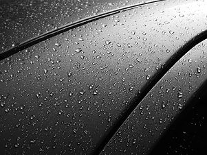 Water droplets on car paintwork