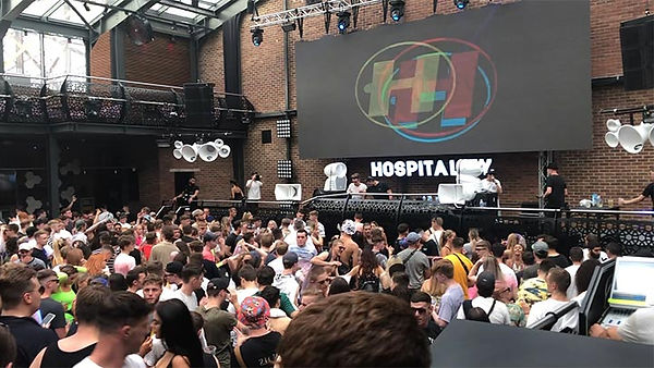 Main stage at studio 338 for hospitality warm up party