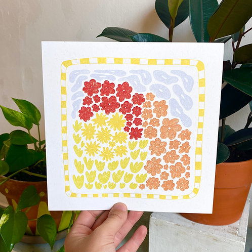 """Flower Bed"" Print"