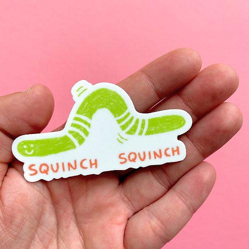 Squinch Worm Sticker