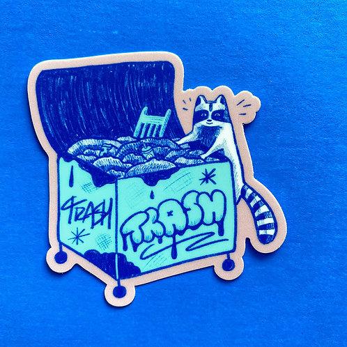 Treasure Hunter Raccoon Sticker