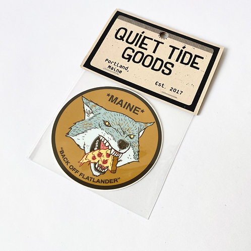 Quiet Tide Goods - Sticker - Pizza Wolf