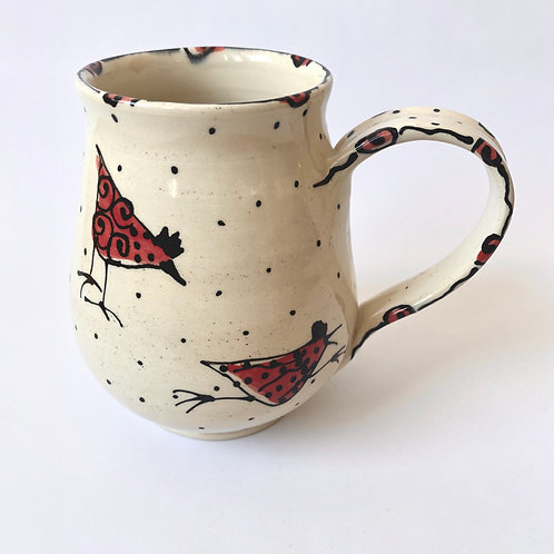 Maple Lane Pottery - Mug - Red Birds