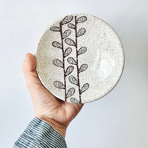 Whitney Gill - Small Ceramic Dish - Sprouts