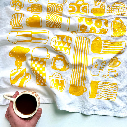 Tea Towel - Mug Collection