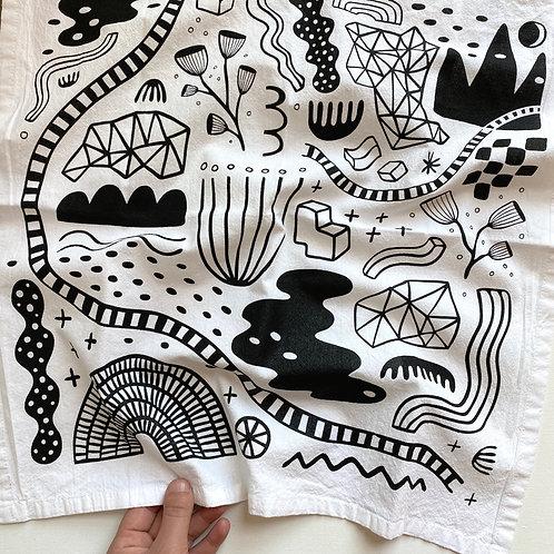 Tea Towel - Abstract Garden