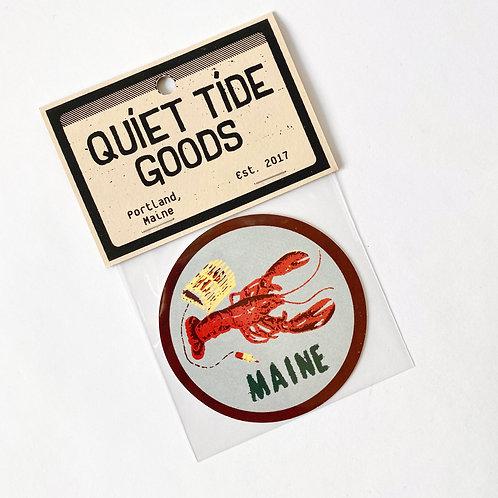Quiet Tide Goods - Sticker - Maine Lobster