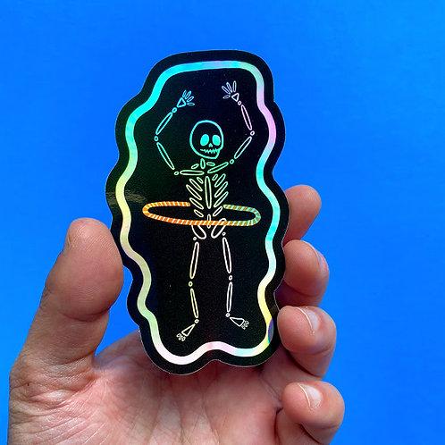 Hula-graphic Skeleton Sticker