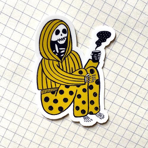 Pajama Skeleton Sticker