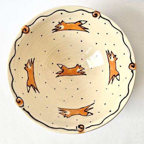 Maple Lane Pottery - Cereal Bowl - Fox