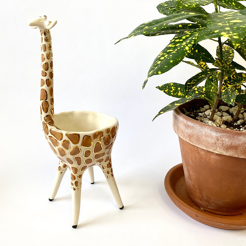 AP Curiosities - Gold Spotted Giraffe Bowl