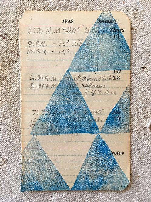 Mini Block Print on Antique Page