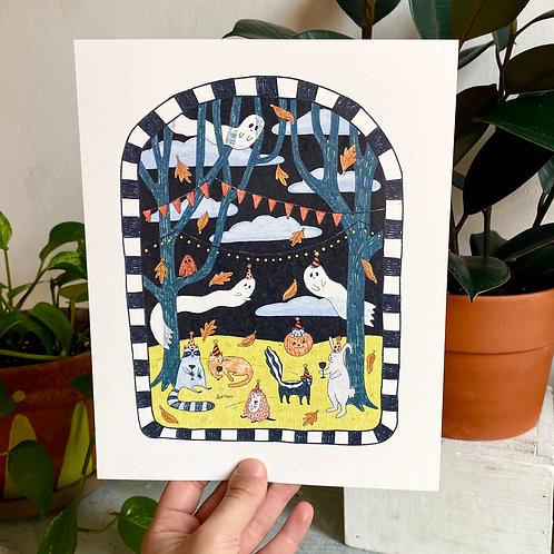 """Halloween Party"" Print"