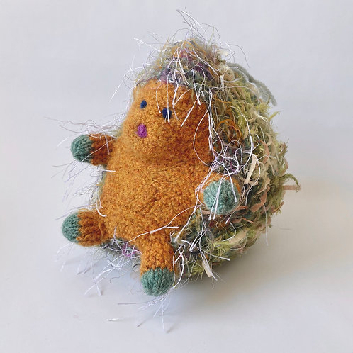 Linda Herschenfeld - Knit/Stuffed Hedgehog - Orange/Green