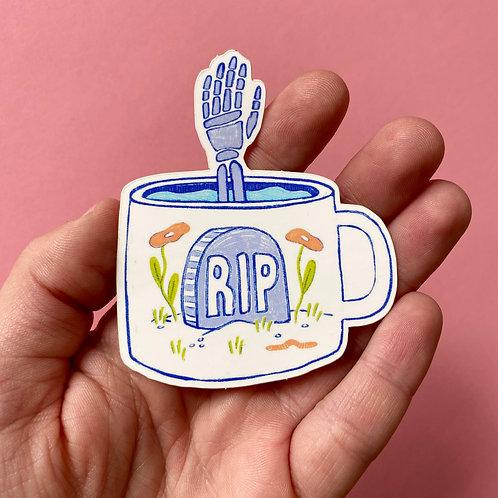 RIP Mug Sticker