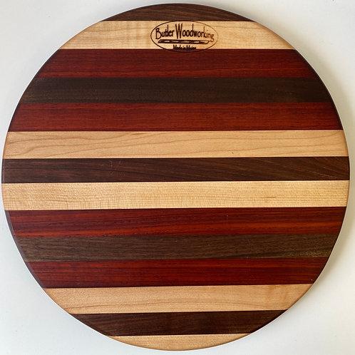 "Butler Woodworking - 12"" Round Cutting Board"