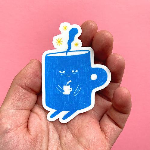 Sleepy Coffee Sticker