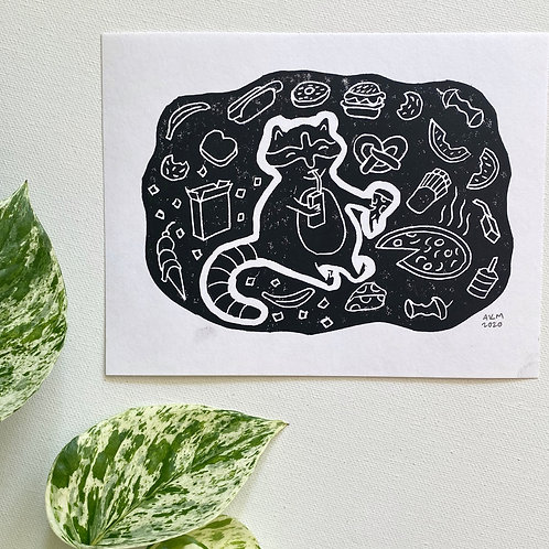 Block Print - Snaccoon