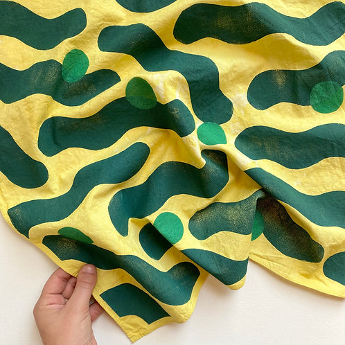 Hand Dyed Bandana - Sea Blobs