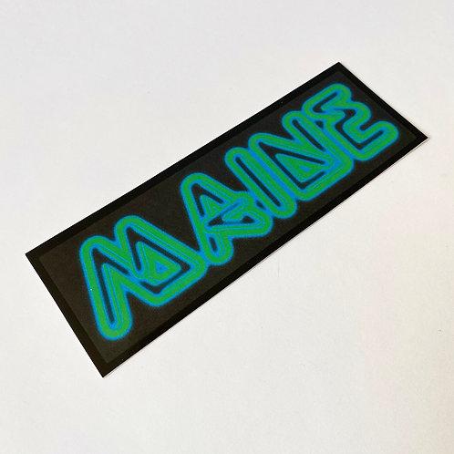 Quiet Tide Goods - Sticker - Neon Maine