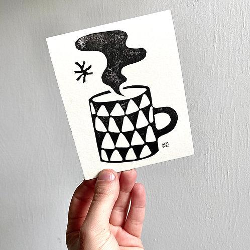 Cozy Mug Block Print