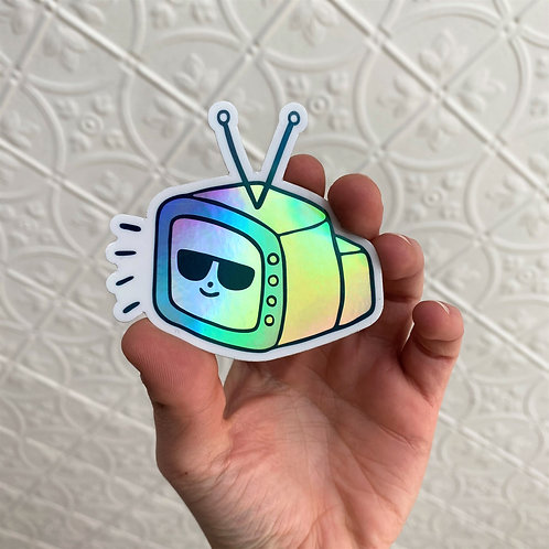 Cool TV - Holographic Sticker