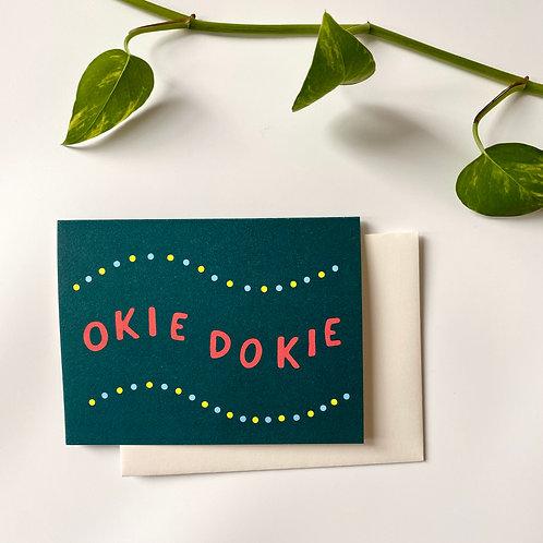 Okie Dokie Card