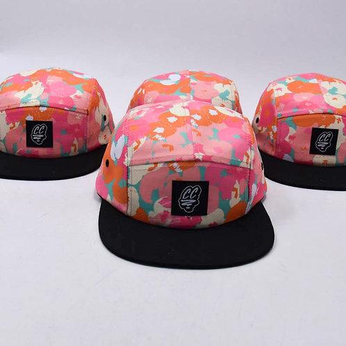FLORES ROSA FIVE PANEL CAP