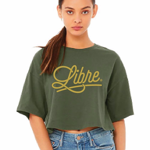 LIBRE JERSEY CROPPED TEE
