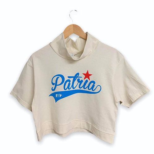 PATRIA MODIFIED TURTLE NECK CROPPED TEE