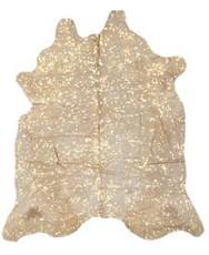 Rug Cowhide Gold